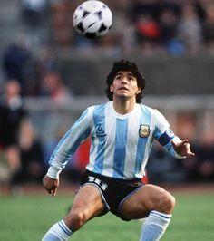 Diego Maradona de Argentina en 1986.