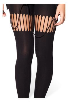 OSFA tights / leggings (thick with slashed suspender parts!) Tried on and washed once, great condition. RRP: $4O (aud)