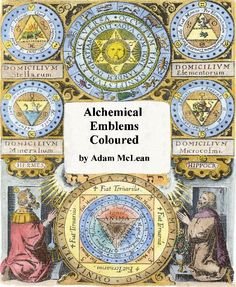 Book of alchemical and Rosicrucian illustrations. Great table art.