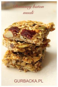 domowy baton musli z masłem migdałowym Dairy Free, Gluten Free, Polish Recipes, Muesli, Cupcake Cookies, Food Truck, Sugar Free, Cake Recipes, Healthy Eating