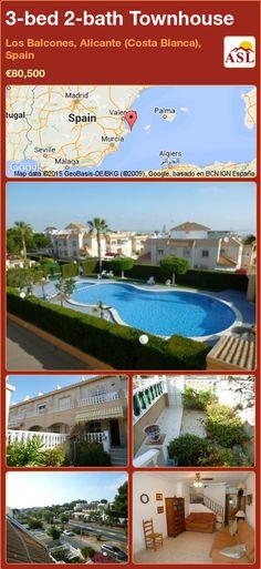 Townhouse for Sale in Los Balcones, Alicante (Costa Blanca), Spain with 3 bedrooms, 2 bathrooms - A Spanish Life Murcia, Alicante, Spanish House, Public Transport, Townhouse, Transportation, Spain, Houses, Bath