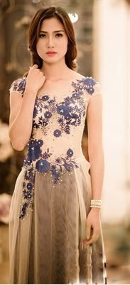 Picture of AD11K - I think this might be the dress I wear at my reception. It is a modified ao dai.