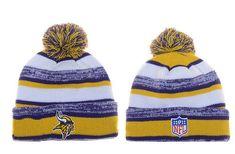 Minnesota Vikings Winter Outdoor Sports Warm Knit Beanie Hat Pom Pom