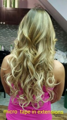 Micro Tape in hair extensions at Tammy's Hair Design