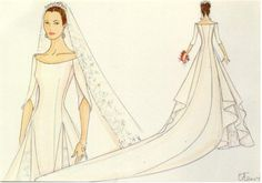 crown princess mary wedding gown sketches | Best Royal brides and wedding dresses - Page 50 - The Royal Forums