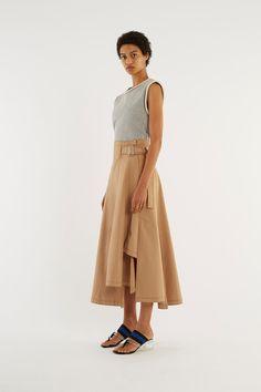 Utility Belted Skirt - CAMEL - 2