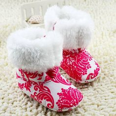Cute baby booties fur boots  warm boots by CharmingEliBoutique