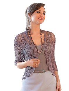 Crocheted Knit Cardigan