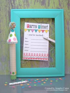 @Jen Carter created this wonderful party invite and matching favor using SRM's Birthday We've Got Your Invite, Birthday We've Got You Border Sticker and a skinny TUBE.  So much fun!