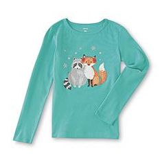 Carter's Girl's Long-Sleeve Shirt - Fox & Raccoon