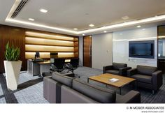 Best Executive Interior Design for Your Office. Best Executive Interior Design for Your Office. Office interior design for executives and tips on organizing and decorating the interior of the office. Corporate Office Design, Office Table Design, Modern Office Design, Corporate Interiors, Office Interior Design, Luxury Interior Design, Office Interiors, Office Designs, Interior Ideas