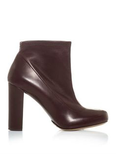 Stretch leather ankle boots   Chloé   MATCHESFASHION.COM