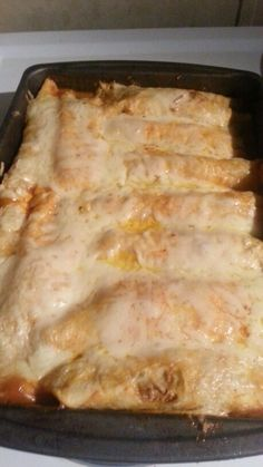 BEEF ENCHILADAS Slow cook roast in crockpot along with canned tomato and peppers...when finished Shred the beef add  8 ounce pkg cream cheese and 1 pkg taco seasoning. Mix well.  Dip tortillas in red enchilada sauce and fill with meat mixture and pepper jack cheese..layer in 11×13 pan (make sure to put some red sauce in bottom of pan) cover with cheese and foil bake for 40 min at 350 degrees