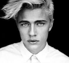 Image result for blonde hair blue green eyes male model