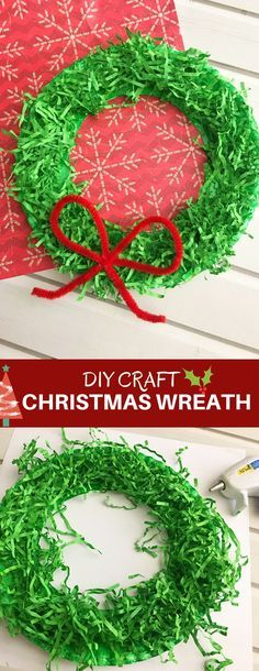 DIY Christmas Paper Wreath is a fun paper craft to do with the whole family. It's inexpensive to make and adds a festive touch to your holiday decor.