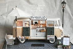 This is too cute! Had to pin. Miniature toy coffee van - such detail!
