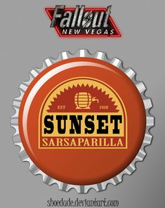 Sunset Sarsaparilla Bottle Cap by ~Shoedude on deviantART