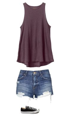 """Untitled #2181"" by pinki123456 ❤ liked on Polyvore featuring RVCA, Topshop, Converse, women's clothing, women, female, woman, misses and juniors"