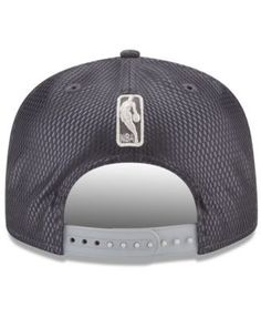 New Era Dallas Mavericks On-Court Graphite Collection 9FIFTY Snapback Cap - Gray Adjustable