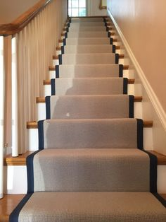 Wide Leather Binding On Pinterest Stair Runners Carpets