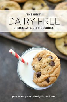 These are the BEST dairy free chocolate chip cookies! via @simplywhisked