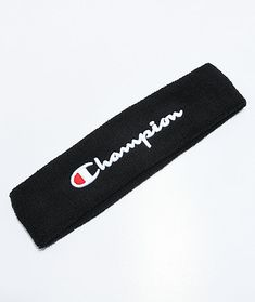 Activate your athleisure style with a stylish accessory like the Terry Logo Headband from Champion. Featured in black with a Champion script logo embroidered on the front and offering a stretch French terry cloth construction for a secure fit. Nike Headbands, Athletic Headbands, Sports Headbands, Bandanas, Victoria Secret Body Spray, Streetwear Hats, Nike Clothes Mens, Champion Clothing, Face Wrap