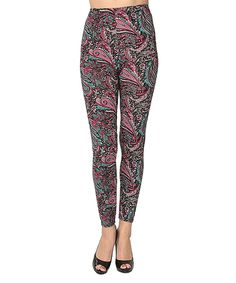 Another great find on #zulily! Pink & Blue Paisley Leggings - Women by Isadora #zulilyfinds