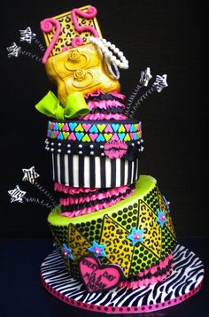 Betsey Johnson Cake by It's A Piece Of Cake (3/25/2012)  View Cake Details Here: http://cakesdecor.com/cakes/10151