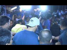 John Abraham & Sonakshi Sinha mobbed by fans at Gaiety Galaxy cinema, Mumbai.