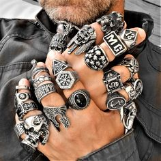 When you say that something is impossible, you have made it impossible. Motorcycle rings, skull, tattoos and badass attitude Viking Jewelry, Gothic Jewelry, Cool Rings For Men, Men Rings, Men's Jewelry Rings, Jewellery, Bracelets For Men, Bracelet Men, Titanium Rings For Men