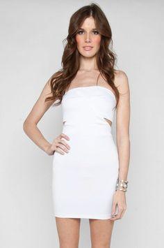 No Cuts Tube Dress in White $44 at www.tobi.com