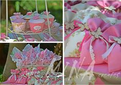 when Mina creates: Shabby Chic Butterflies!!!