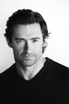 black and white hugh jackman