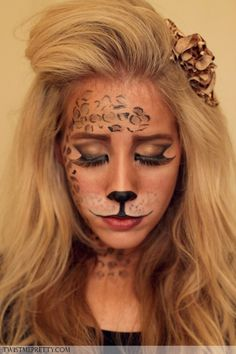 Amazing Lion makeup tutorial for halloween! I so want to do this ...