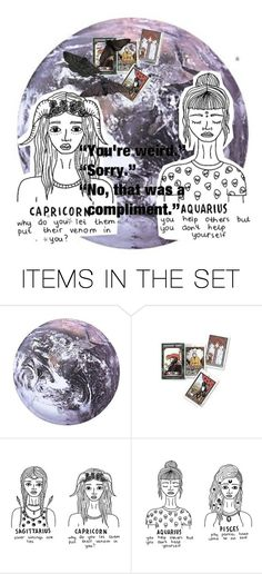 """""""The Cusp of Mystery & Imagination/Capricorn Aquarius Cusp"""" by witchblood ❤ liked on Polyvore featuring art"""