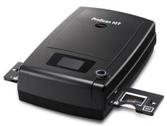 Reflecta Pro Scan 10T Negative and Positive film, 35mm strips or 35mm mounted slides a resolution of 10,000x 5,000 dpi, a dynamic range of 3.9 Dmax and a fast scanning time of 7 mins for a colour san with 10,000 dpi and 24 Bit colour depth