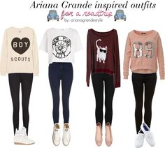 Ariana Grande inspired outfits for a roadtrip - requested by someone on polyvore x by dresslikearianaa featuring a keds footwear Sweater / Zoe Karssen pink sweat shirt, $92 / Sweatshirt, $...