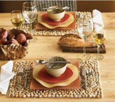 Ochre River Stone Placemats - VivaTerra. I wonder if I can buy these and attach them to the wall? Much cheaper than the square foot price..?
