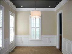 Light walls and dark ceiling