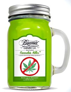 Type: Jar/Container Candle Shape: Glass Mason Jar Color: Light Green Material: Soy Wax Scent: Cannabis Killer Features: Odor and Smoke Eliminator Natural Odor K Scented Candles, Candle Jars, Mason Jars, Homemade Candles, Diy Candles, Stoner Room, Stoner Gifts, Candles Online, Odor Remover