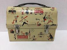 Vintage 1950s junior high school themed lunch box