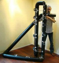 """Subcontrabass flute! This """"gentle giant"""" of the largest instruments in the flute family, measures over 15 feet (4.6 m) long.  - The Interlude"""