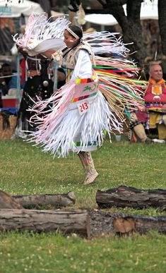 Pow WoW Jingle Dress | Dancers compete for recognition and prize money; this dancer is ...