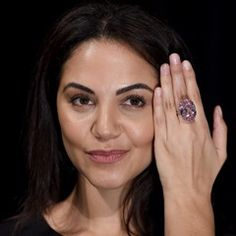 Pink Star Diamond Auction Photocall at Sotheby's