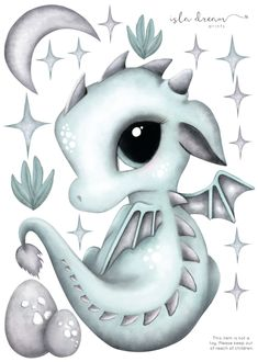 Dex the Dragon Fabric Wall Decals – Isla Dream Prints Kawaii Dragon, Cute Animal Drawings, Art Drawings, Adorable Drawings, Baby Dragon Tattoos, Cute Dragon Tattoo, Cute Dragon Drawing, Unicorn Drawing, Cute Dragons