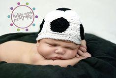 soccer hat! Too cute.
