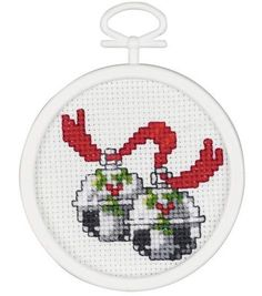 Finished Size: 3inches Counted Cross Stitch Small kits are ideal for kids of all ages. A quick weekend project, they are perfect for ornaments, gift tags or stocking stuffers. Each kit includes a fram