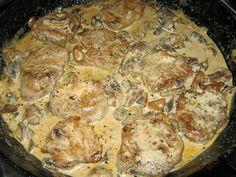 MIMI&GOTOWANIE: Wieprzowe medaliony w sosie grzybowym - pyszny szybki obiad