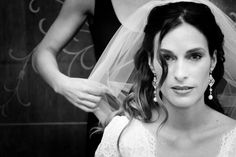 Beautiful Bride with Freshwater Pearl Drop Earrings
