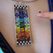 Tiny tile mosaic necklace